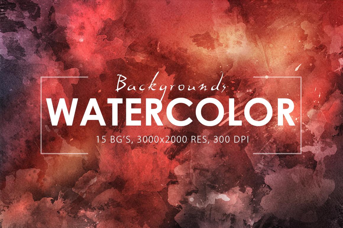 Watercolor Backgrounds 2 & Bonus example image 1
