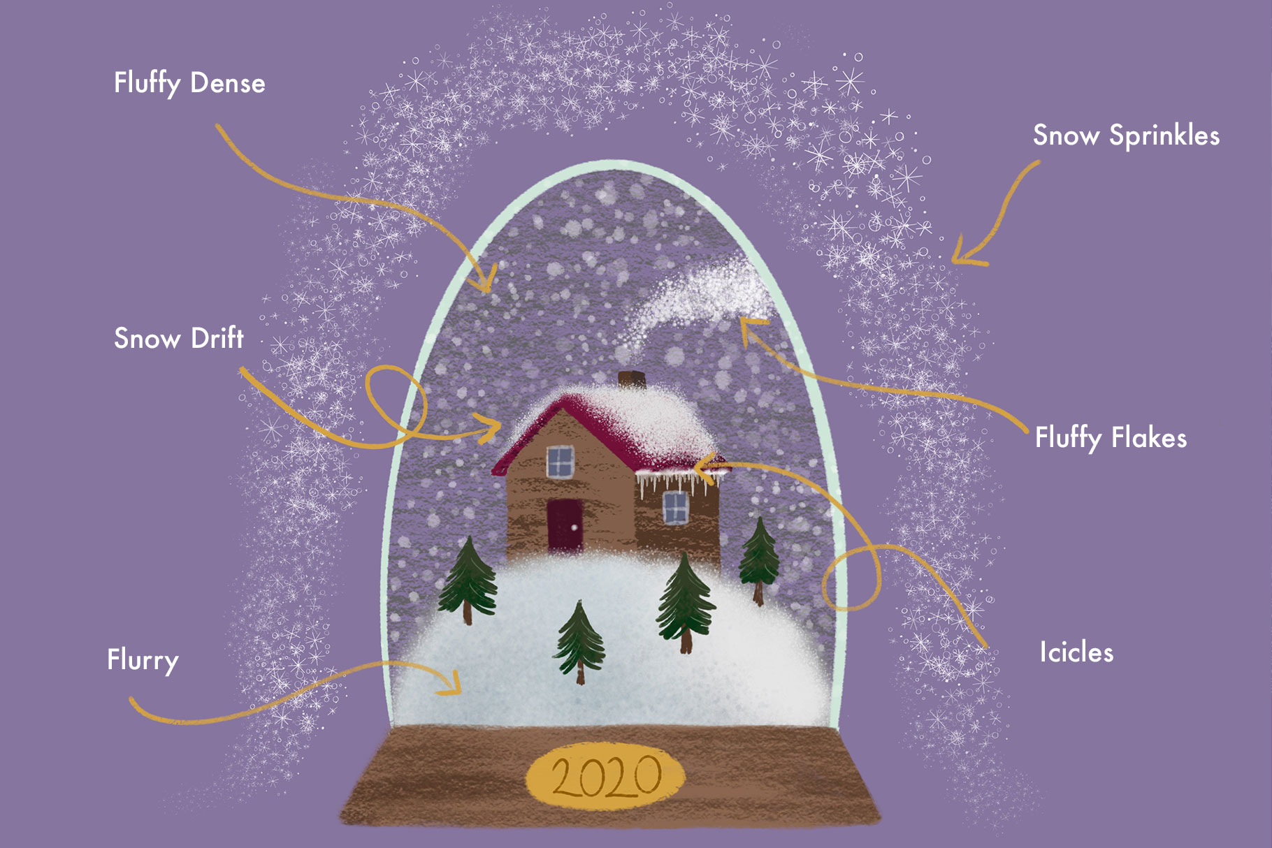 Magical Snow Procreate Brushes example image 2