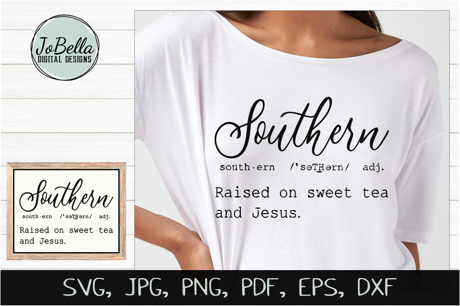 Southern Definition SVG, Sublimation PNG and Printable example image 1