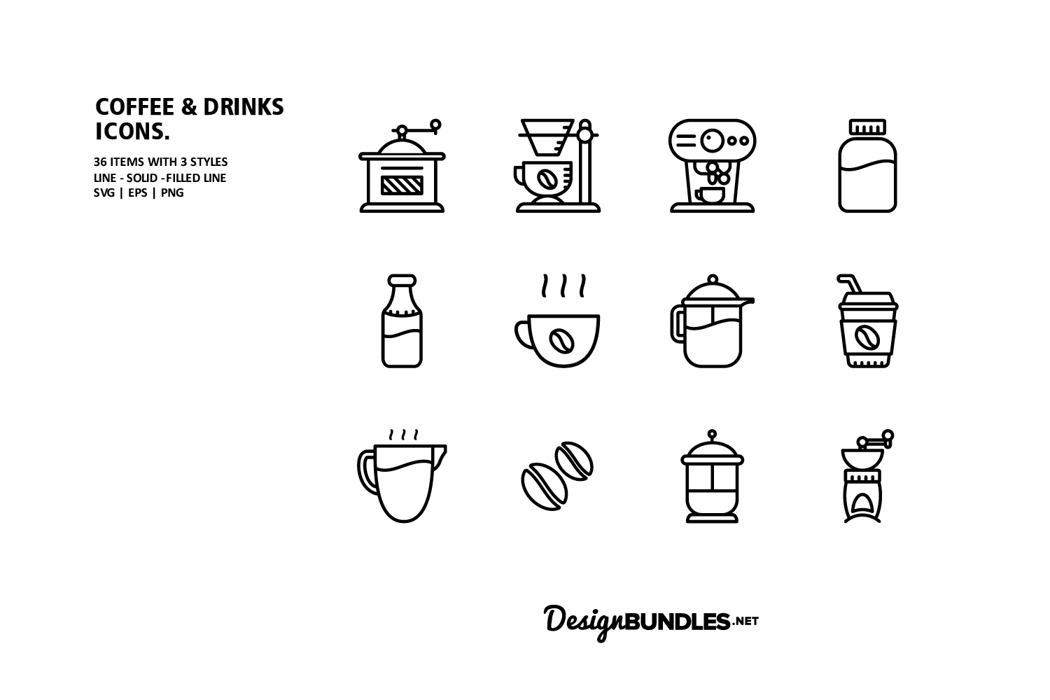 Coffee & Drink Icons example image 2