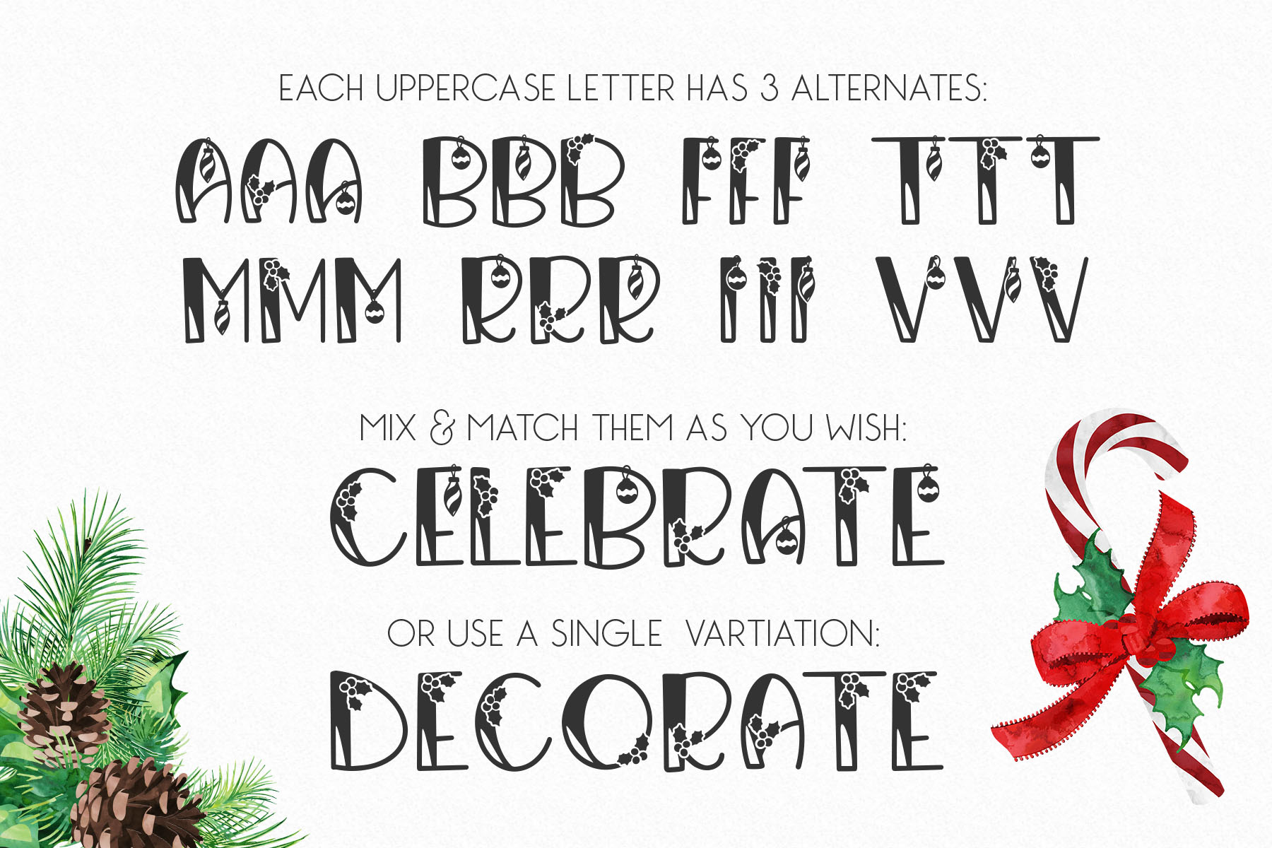 Canday - Festive Font with Extras example image 7