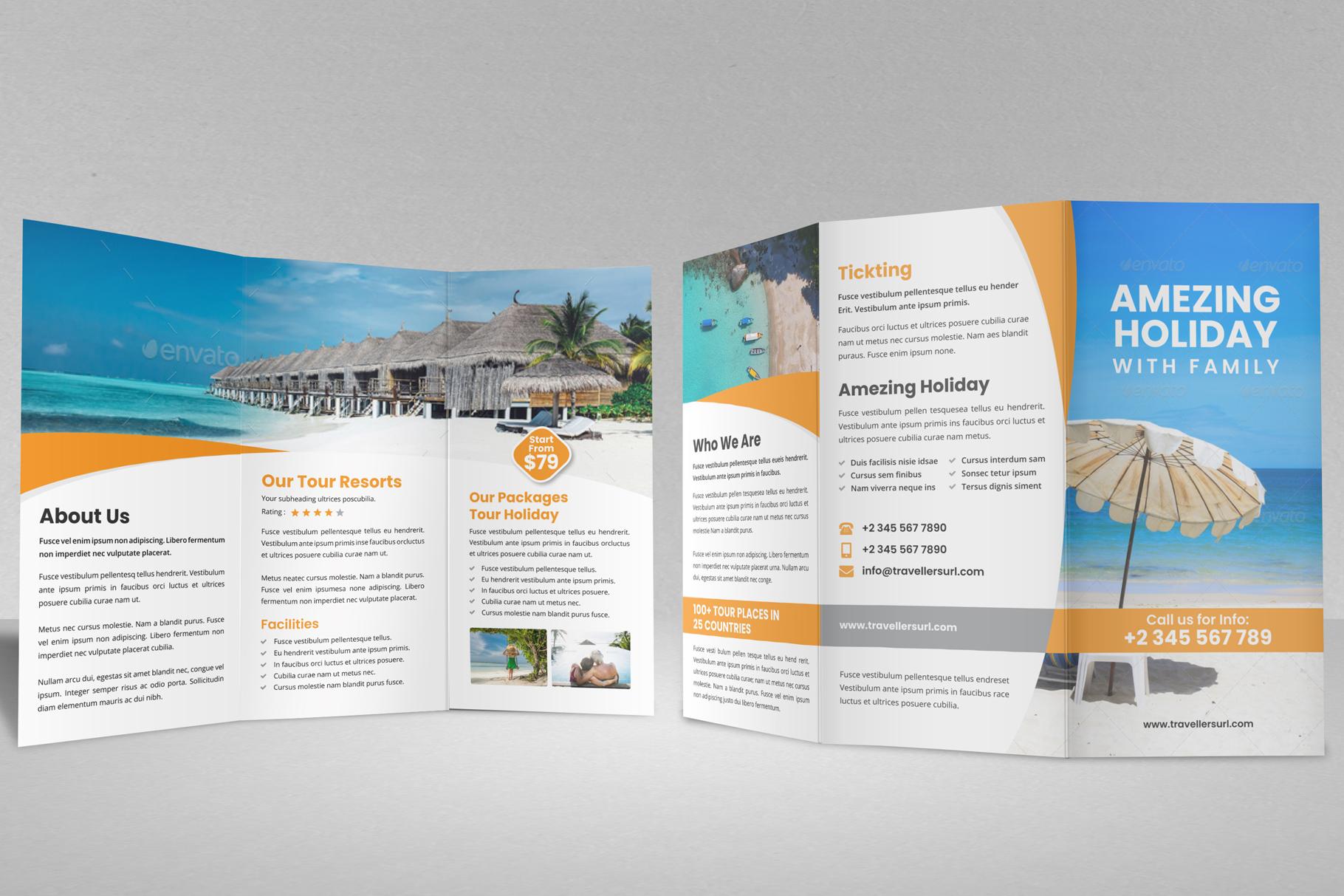 Travel Resort Trifold Brochure v3 example image 5