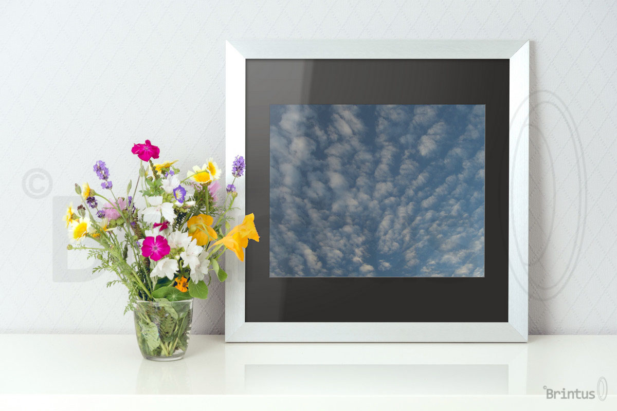 Frame mockup - clean bright interior summer field flowers example image 7