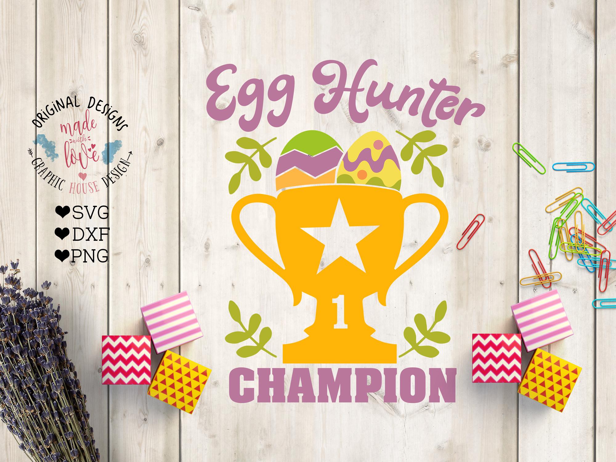 Egg Hunter Champion Cut File and Printable example image 1
