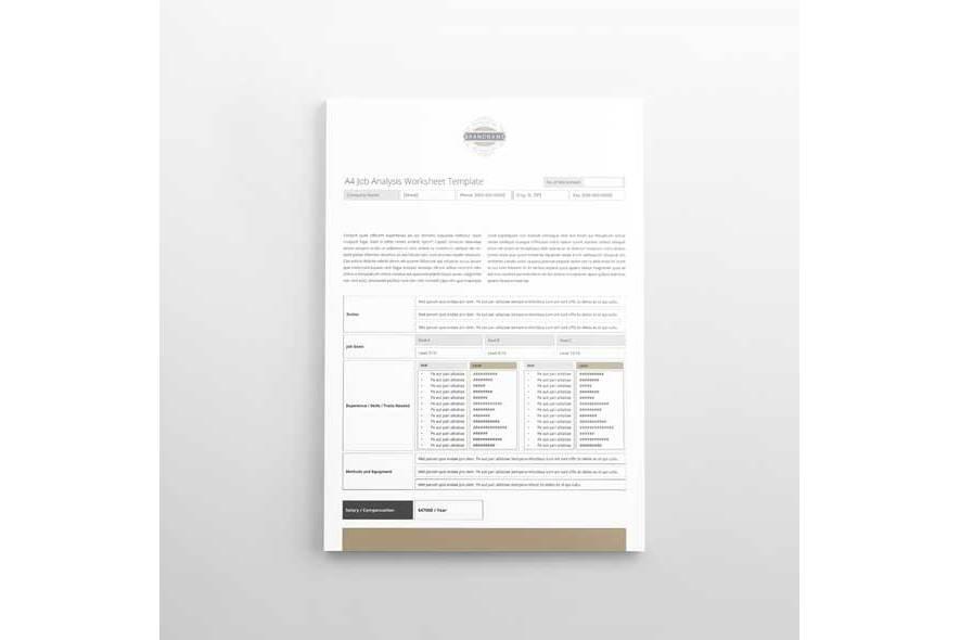 A4 Job Analysis Worksheet Template example image 2