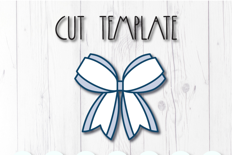 Hair bow template SVG, DIY leather bow template example image 3