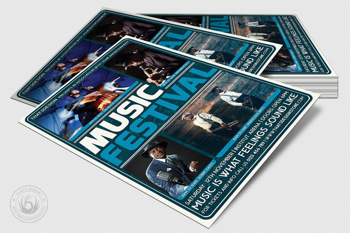 Music Festival Flyer Template V5 example image 4