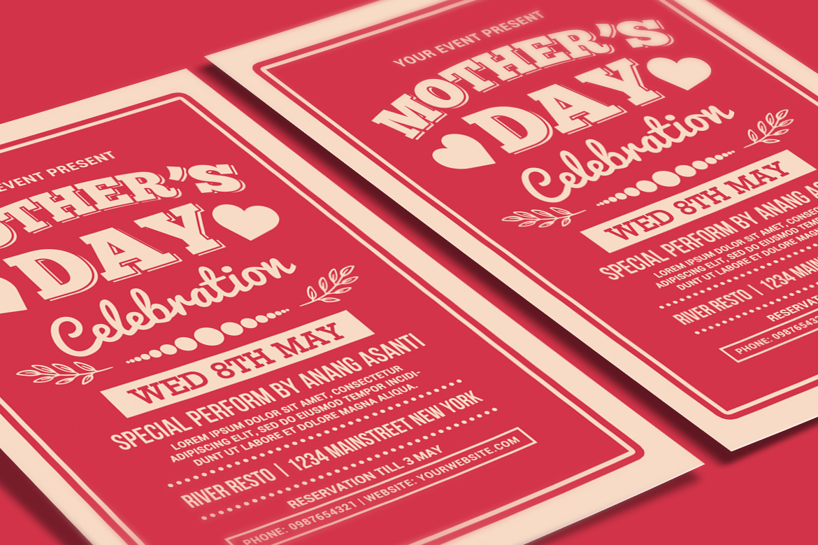 Mother's Day Celebration Typography Style example image 3