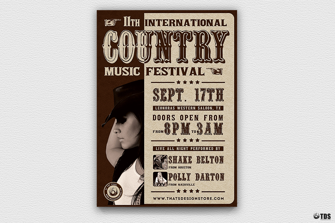 Country Live Flyer Template V7 example image 2