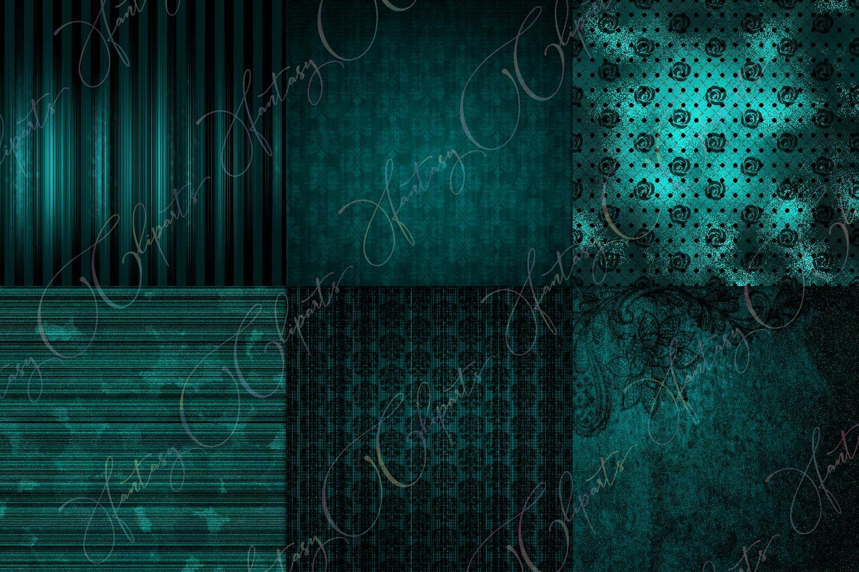 Grunge Turquoise Digital Paper example image 2