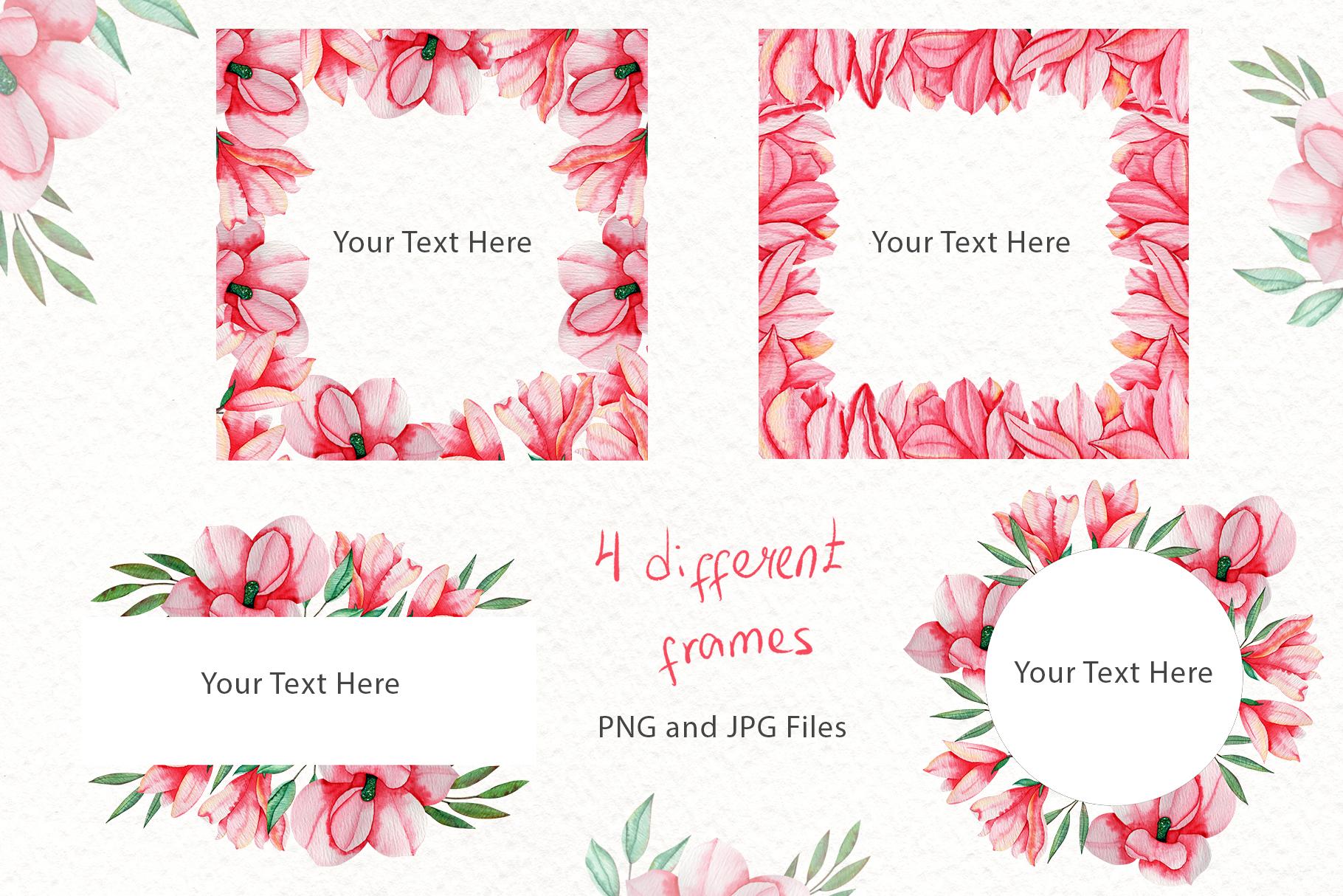 Magnolia Dream - Watercolor Illustrations example image 5