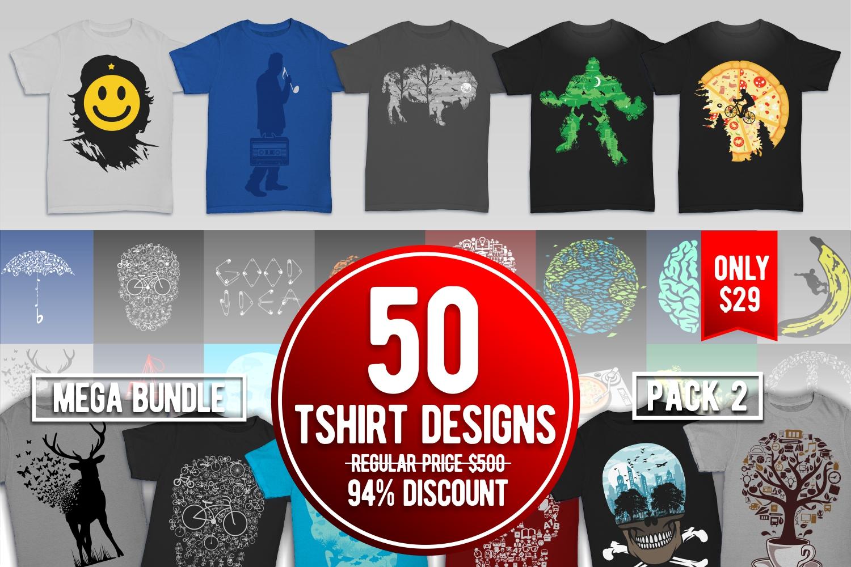 Tshirt Designs Mega Bundle Pack 2 example image 5