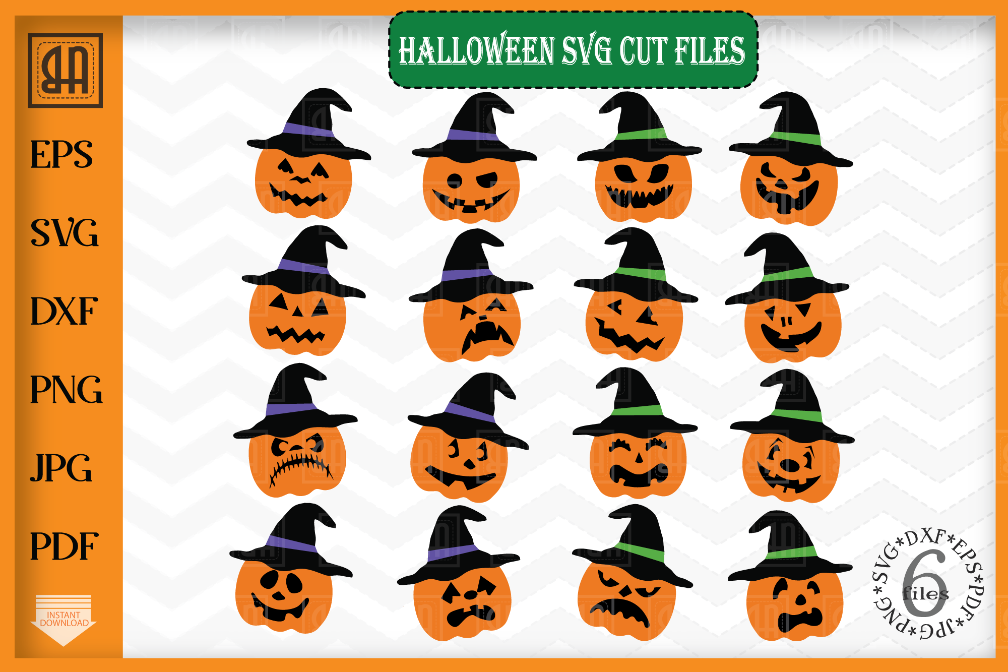 Pumpkin Hat svg - Pumpkin svg - Halloween svg example image 1