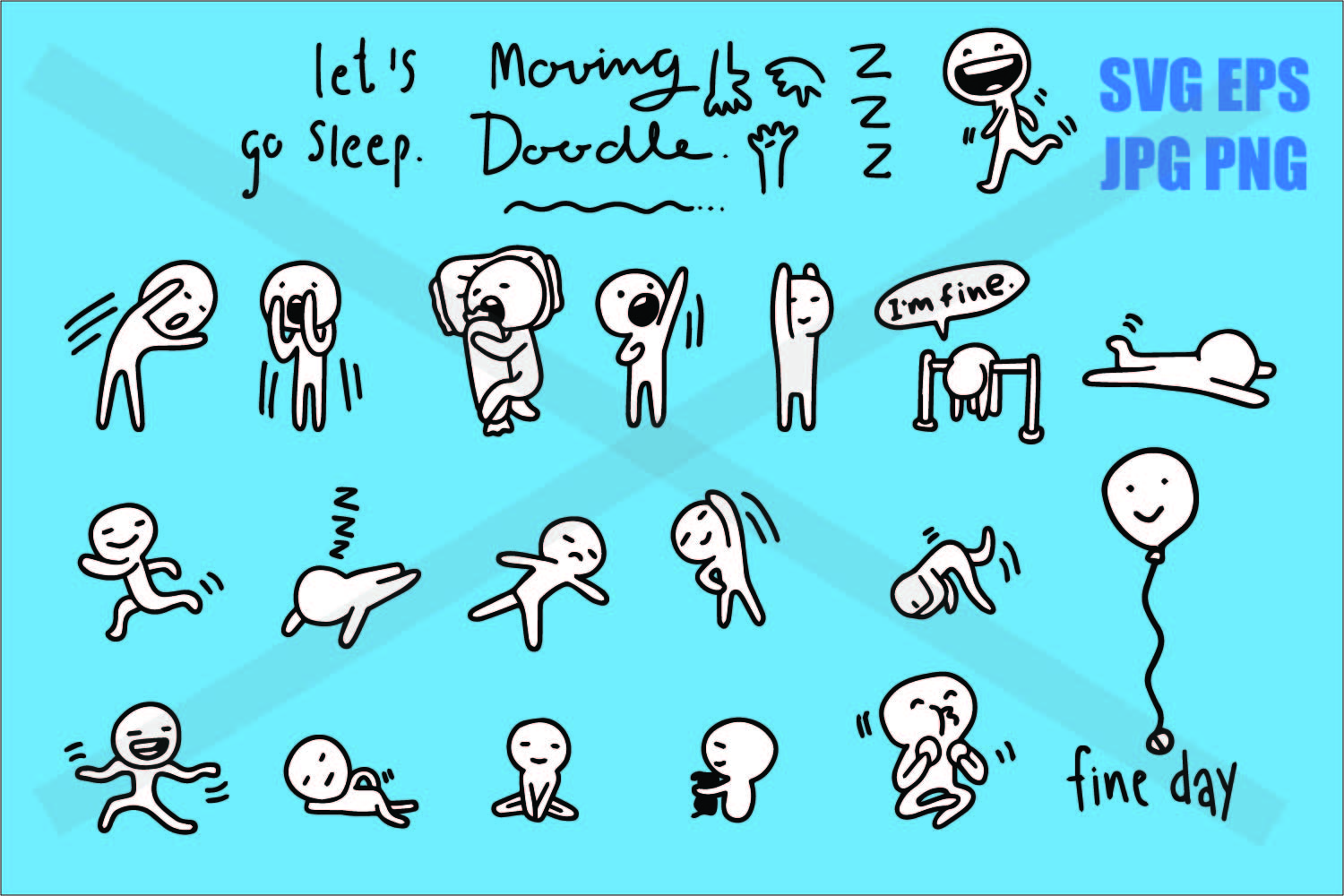 Doogle Simple Guy Everyday Life - SVG EPS JPG PNG example image 1