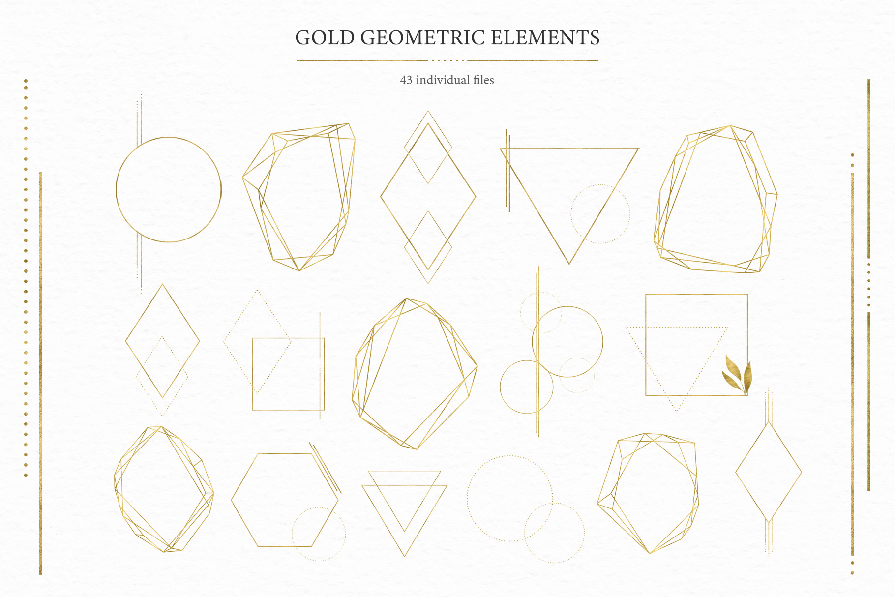 Geometrical. Gold & Watercolor Kit example image 13