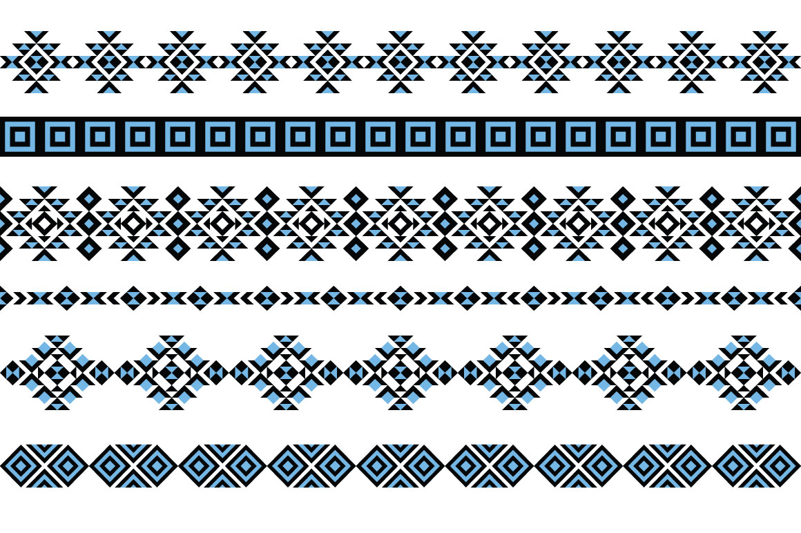 Tribal Pattern Brushes for Adobe Illustrator example image 3