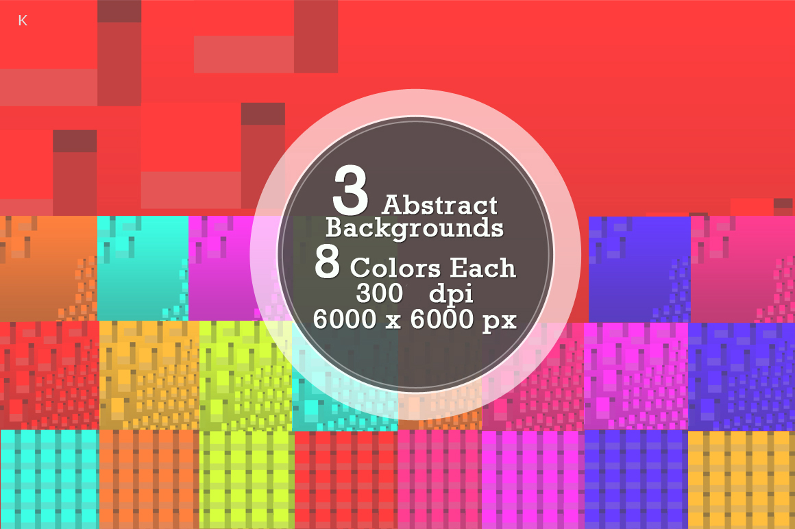Pack of 3 Abstract Backgrounds example image 5