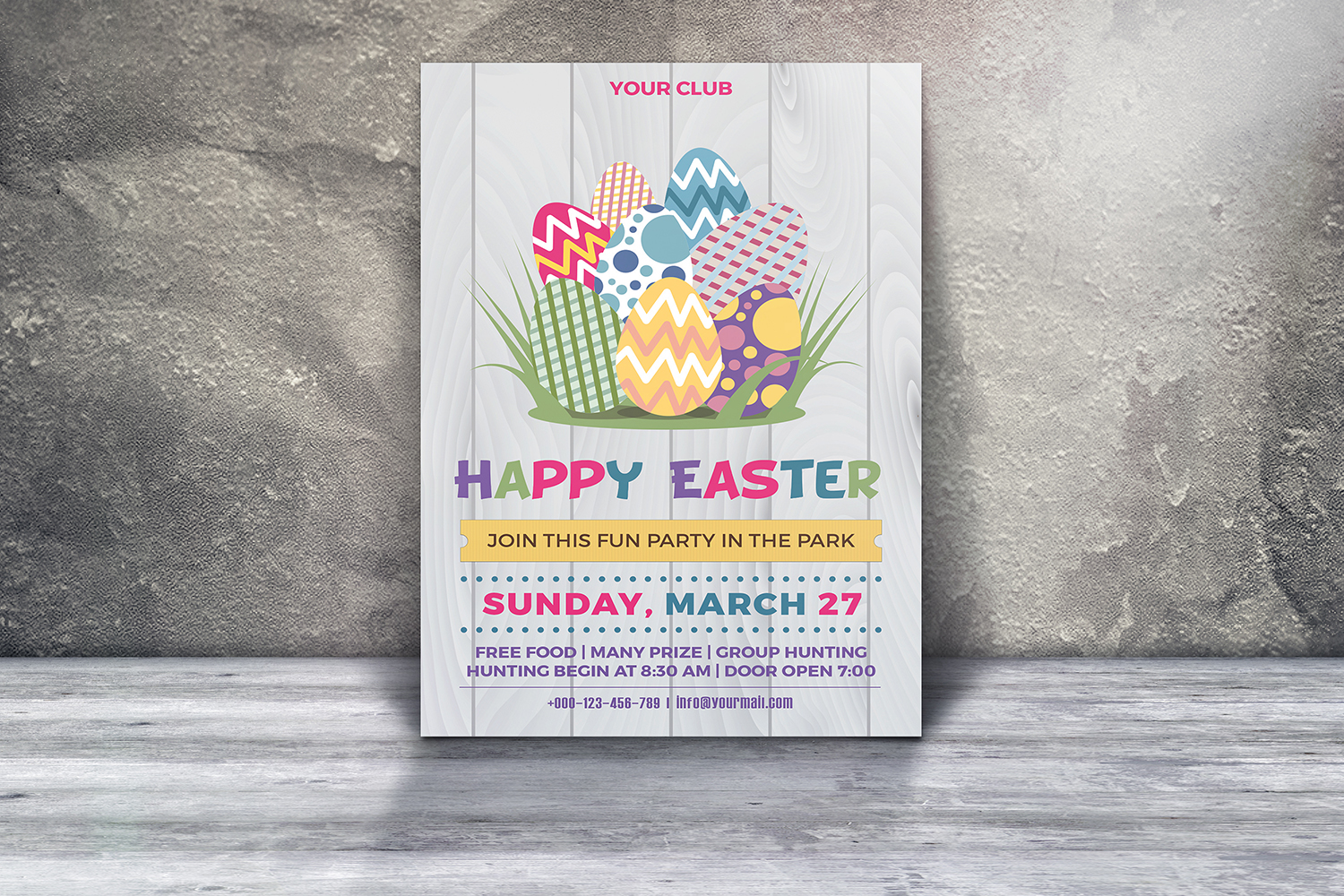 Easter Egg Hunt Party Flyer example image 2