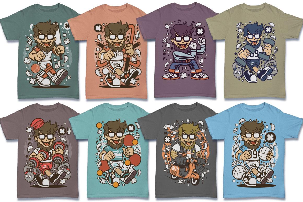 Cartoon Vector #6 Tshirt Design Bundle example image 12