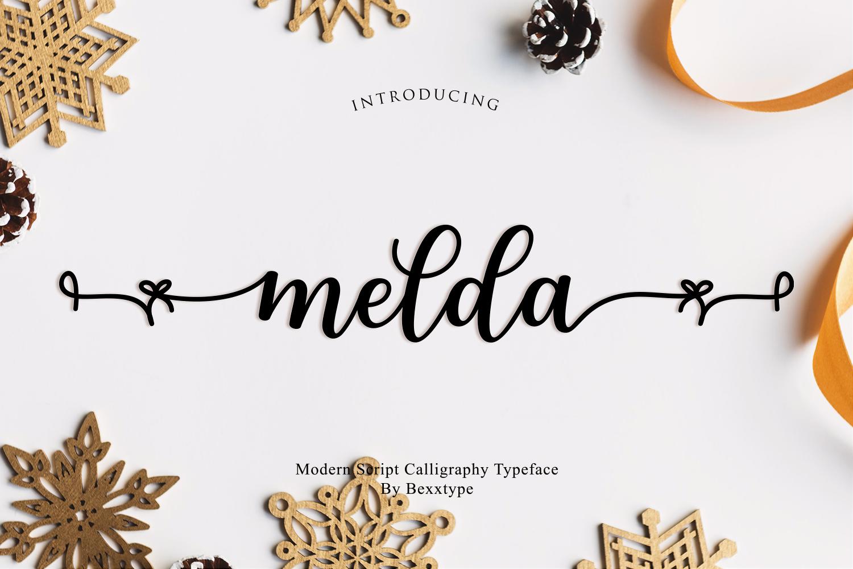 Melda Script | Modern calligraphy example image 1
