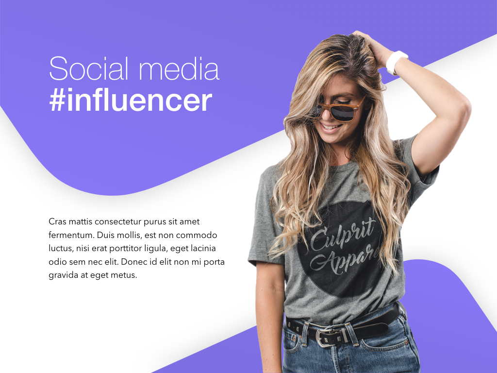Influencer Marketing Keynote Template example image 2