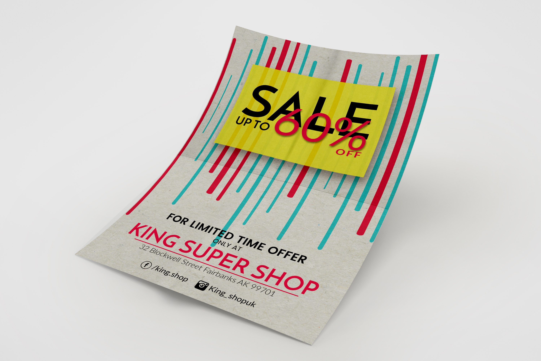 Shop Sale Flyer Design example image 2