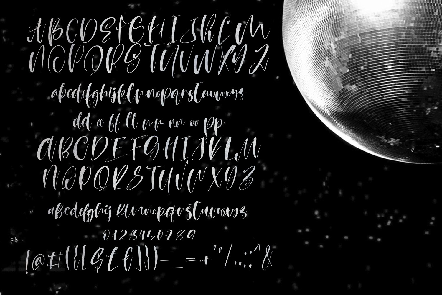 Moon Party Script Font example image 8