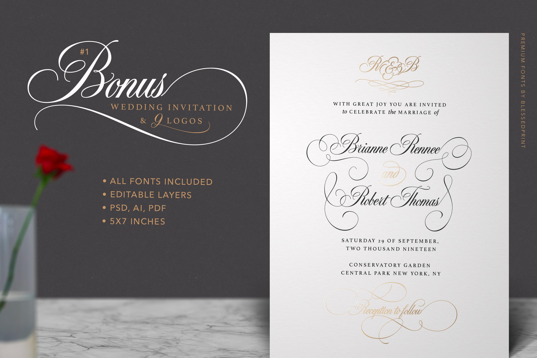 Black & White - premium quality font example image 10