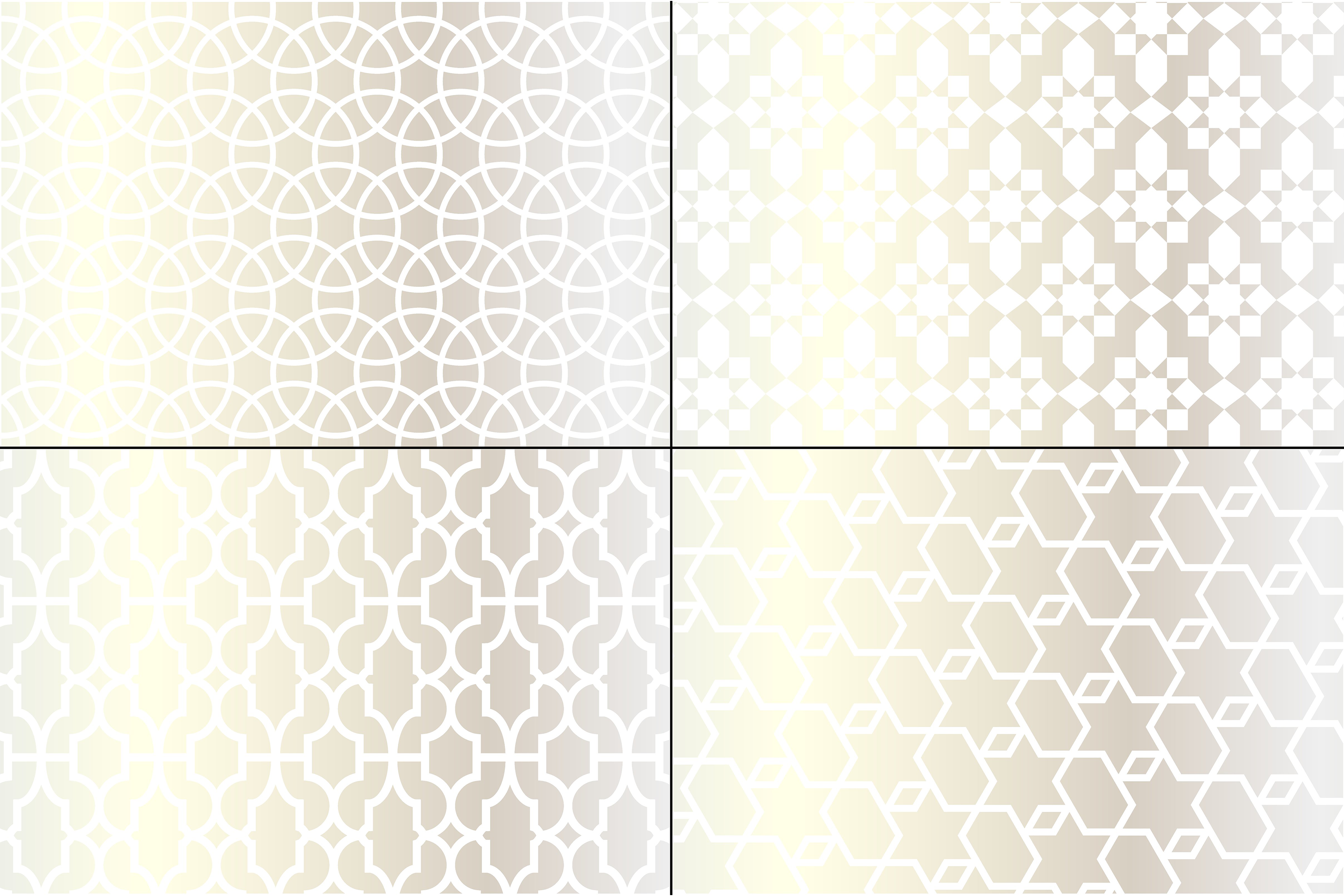 Silver Metallic Moroccan Patterns example image 4