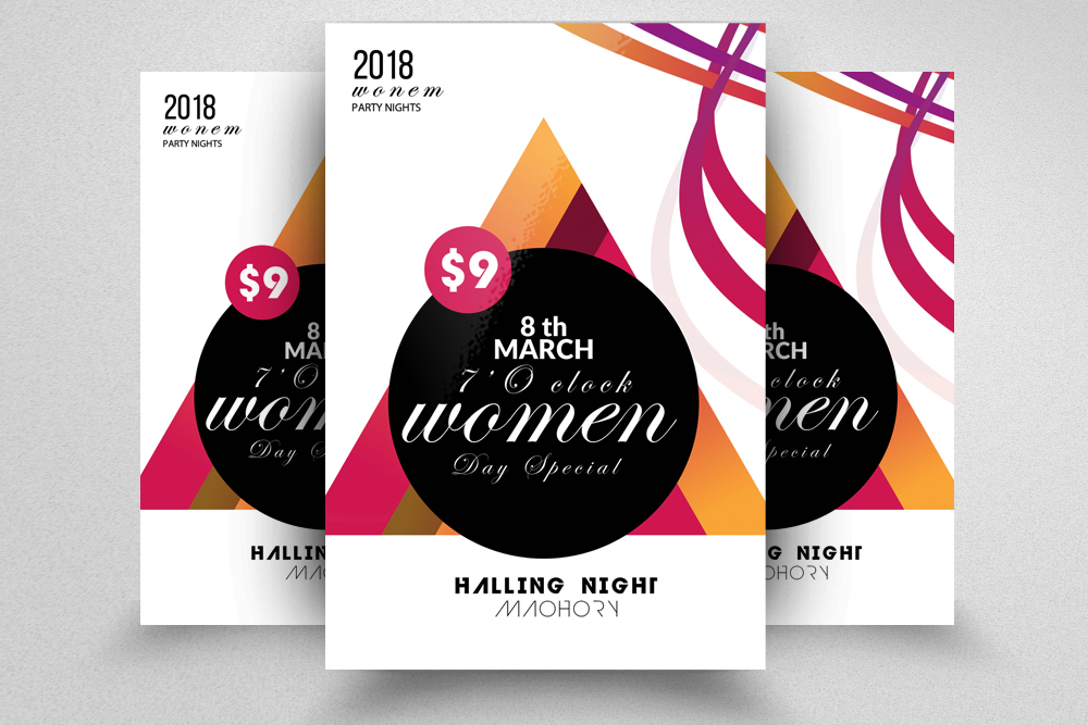 10 Women's Day Flyers Bundle example image 3