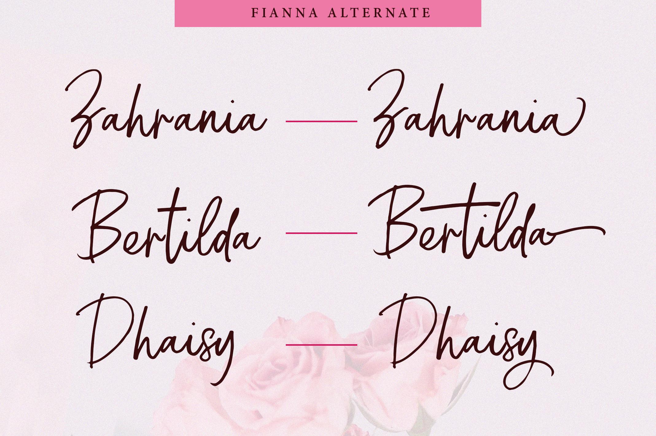 Fianna | Handwritten Script Font example image 4