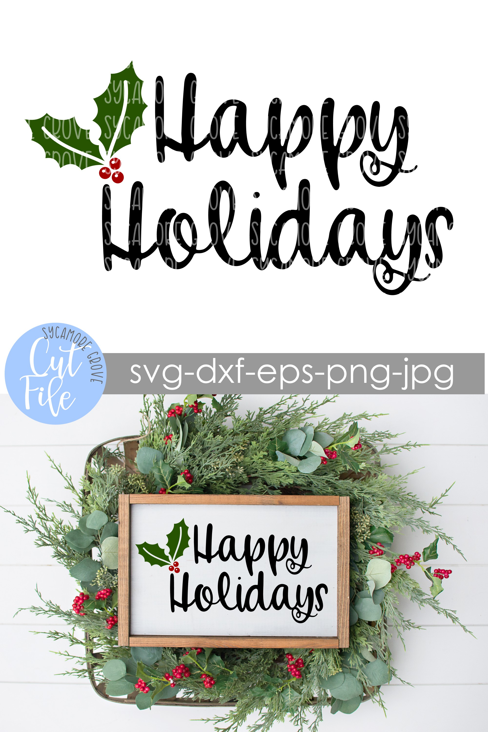 Happy Holidays SVG example image 5