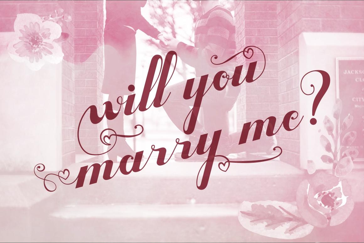 Valentijn - Romantic Font example image 6