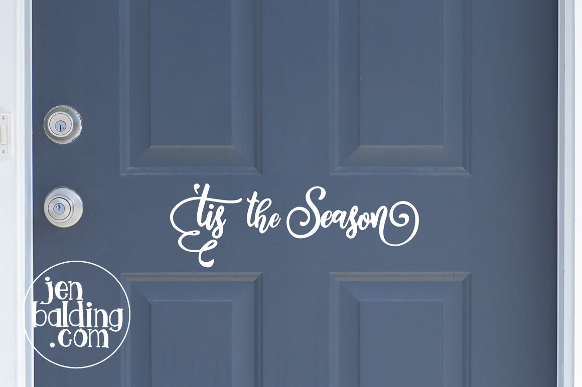 Tis the Season Mason Jar SVG example image 3