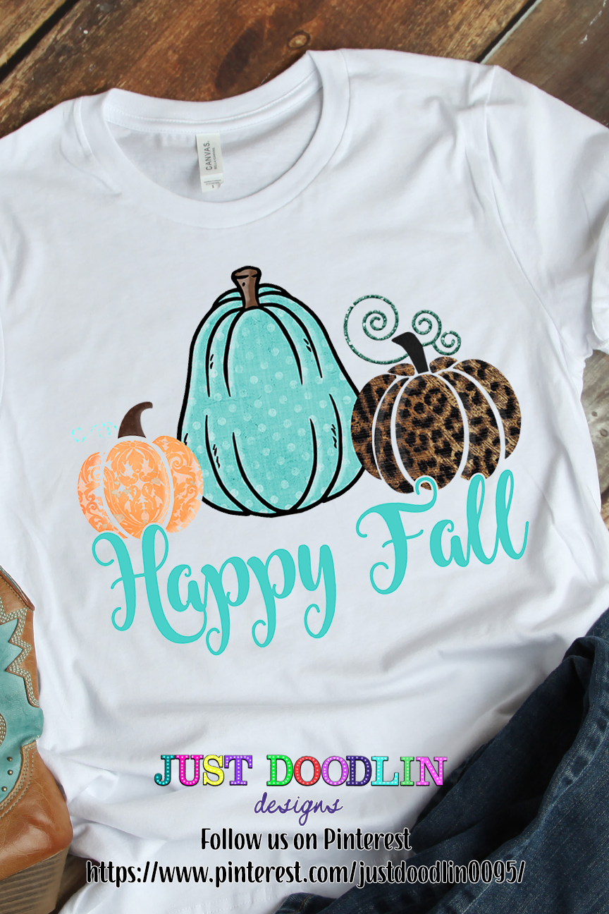 Happy Fall 3 Pumpkin PNG file example image 2