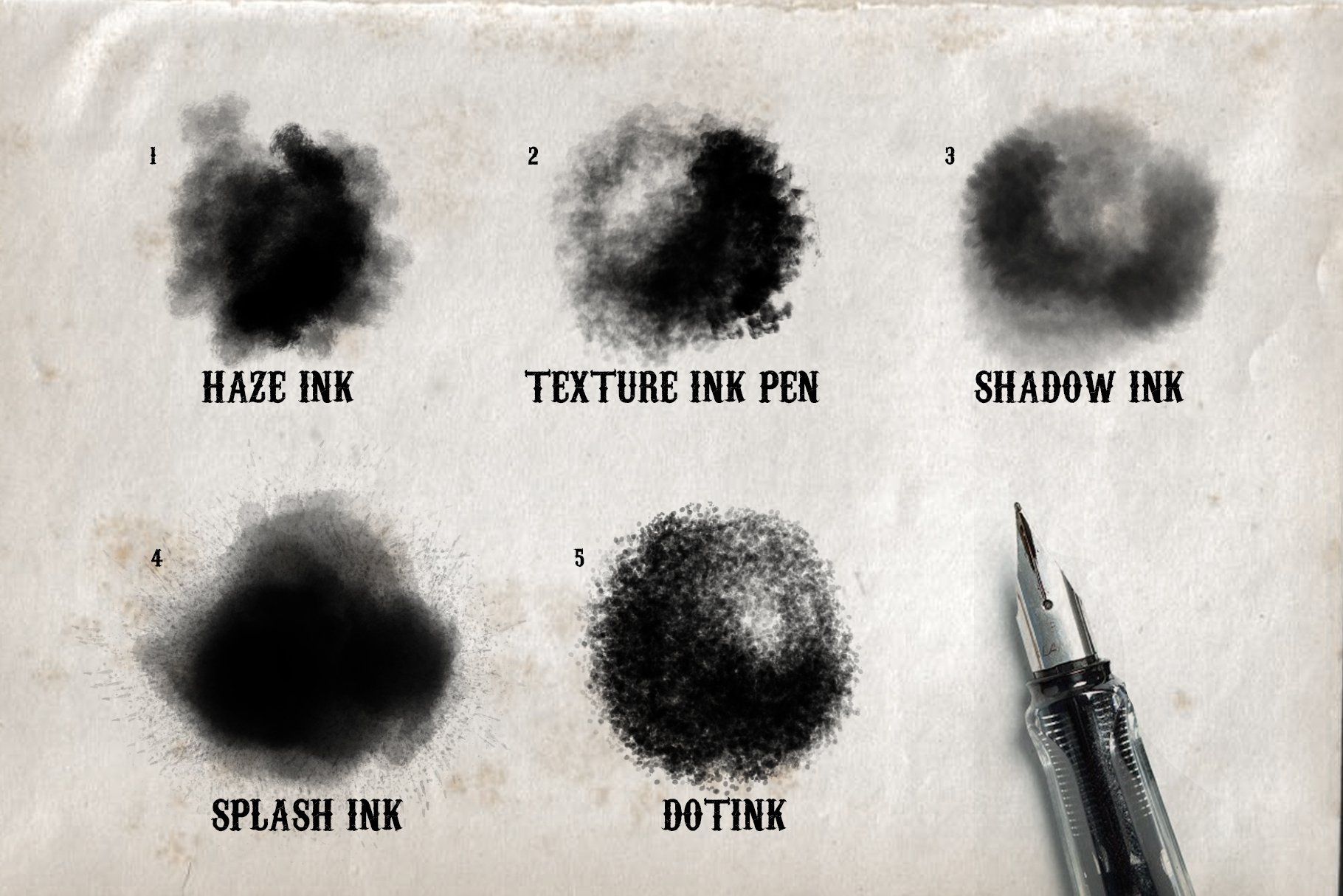 Real Ink Brushes for Photoshop example image 2