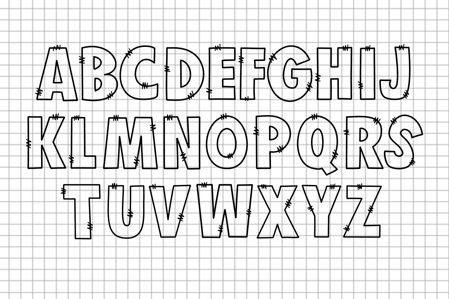 Sketchy Doodle Font example image 2