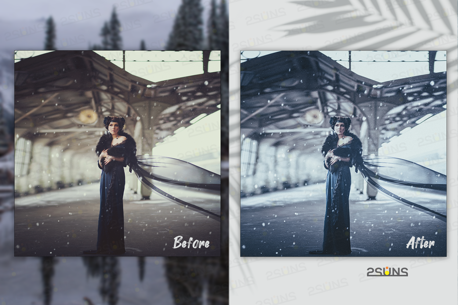Christmas presets, winter lightroom instagram dng pc mobile example image 3