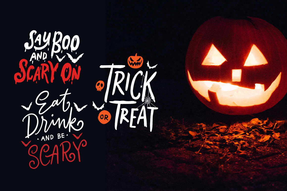 Lettering Halloween SVG Cut File example image 2