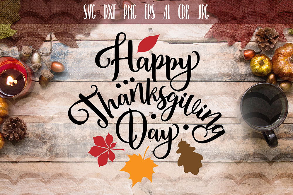 Happy Thanksgiving day SVG example image 1
