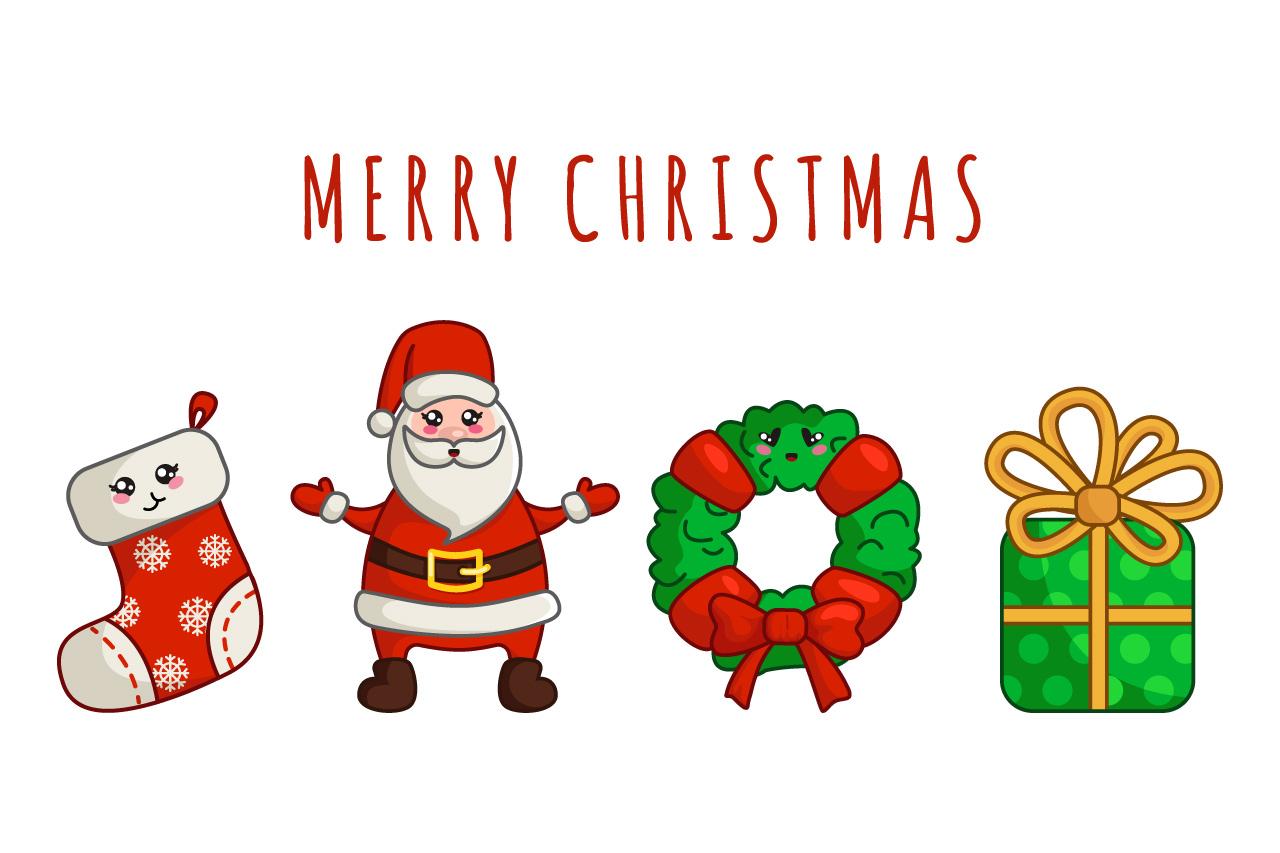 Kawaii Christmas.Kawaii Christmas Set