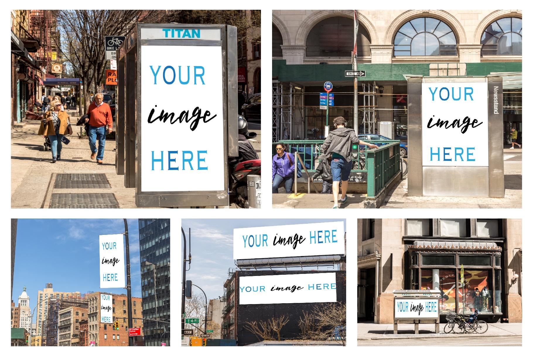 Set of 11 advertising billboard example image 2