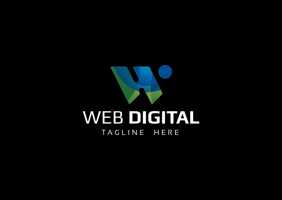 Web Digital W Letter Logo example image 2