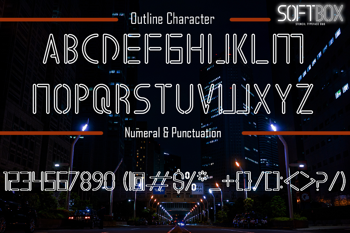 SOFTBOX - STENCIL TYPEFACE FONT DUO example image 7