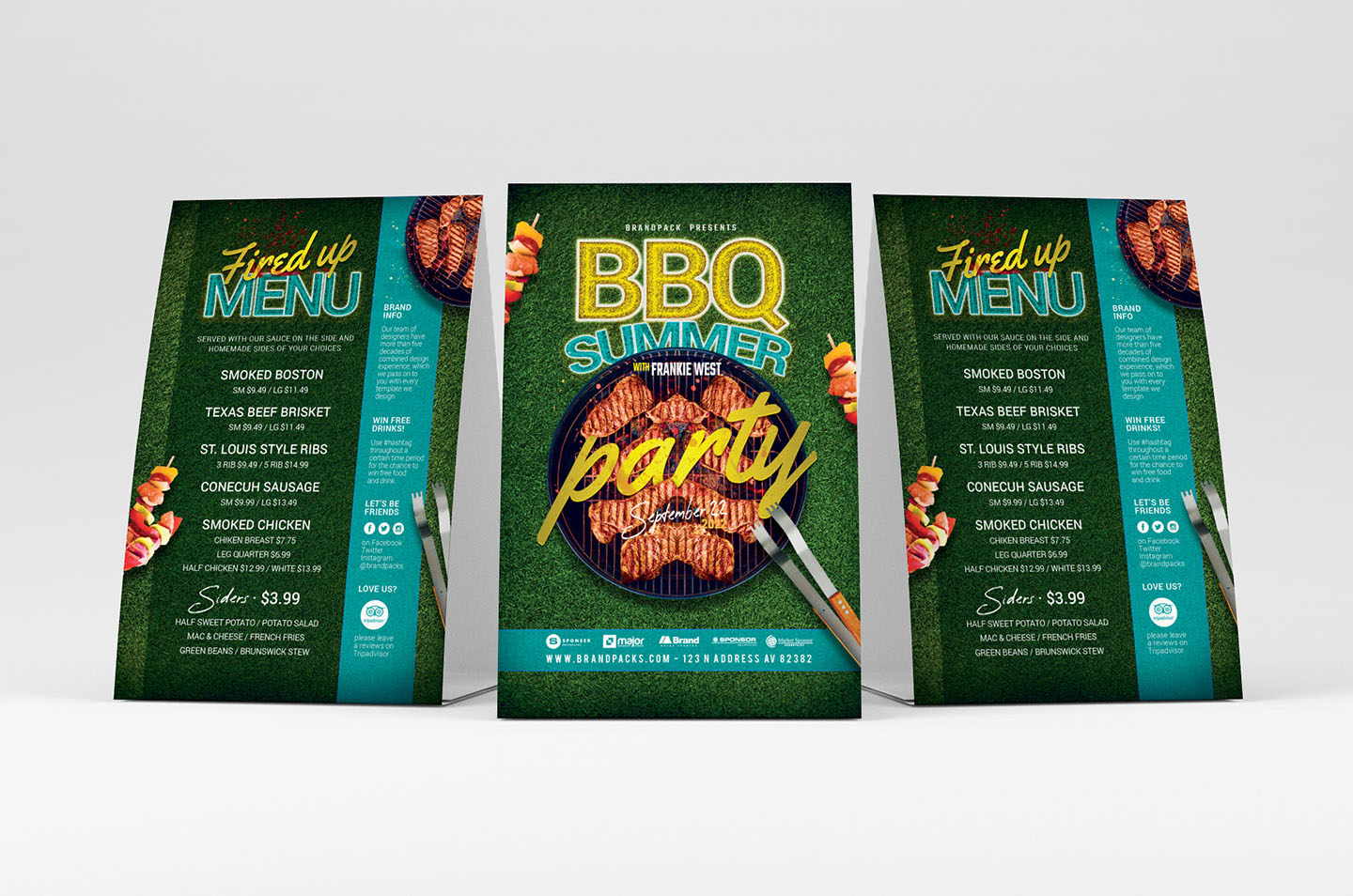 BBQ Cookout Flyer Template example image 3