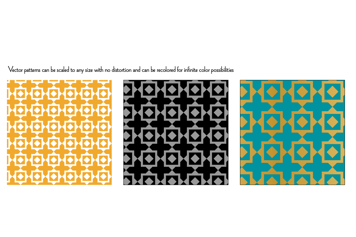 Seamless Pastel Quilt Patterns example image 5