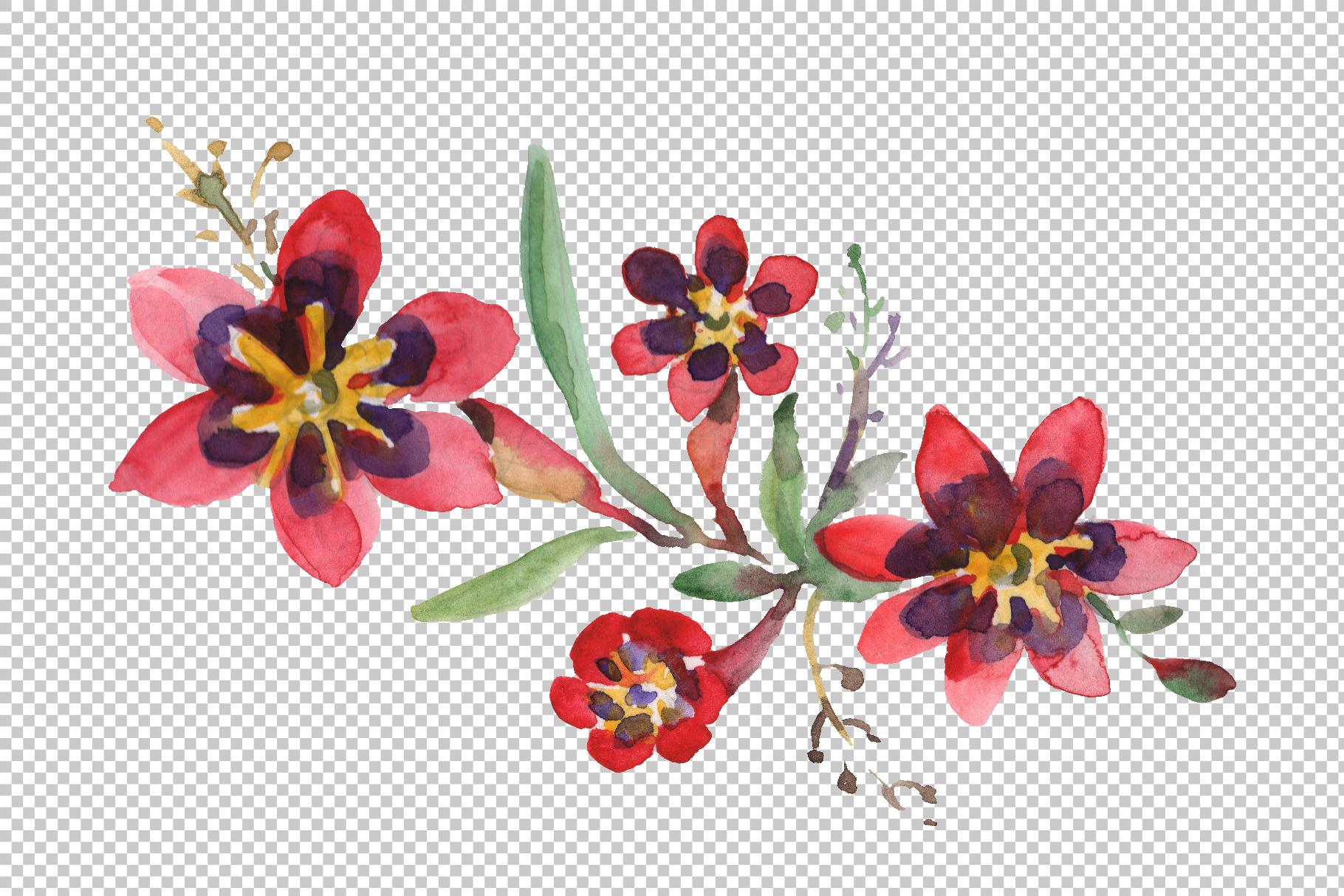 Bouquet April sun Watercolor png example image 5