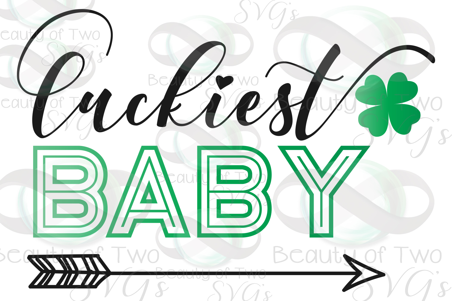Luckiest Family St Patrick's Digital Sign Bundle example image 5