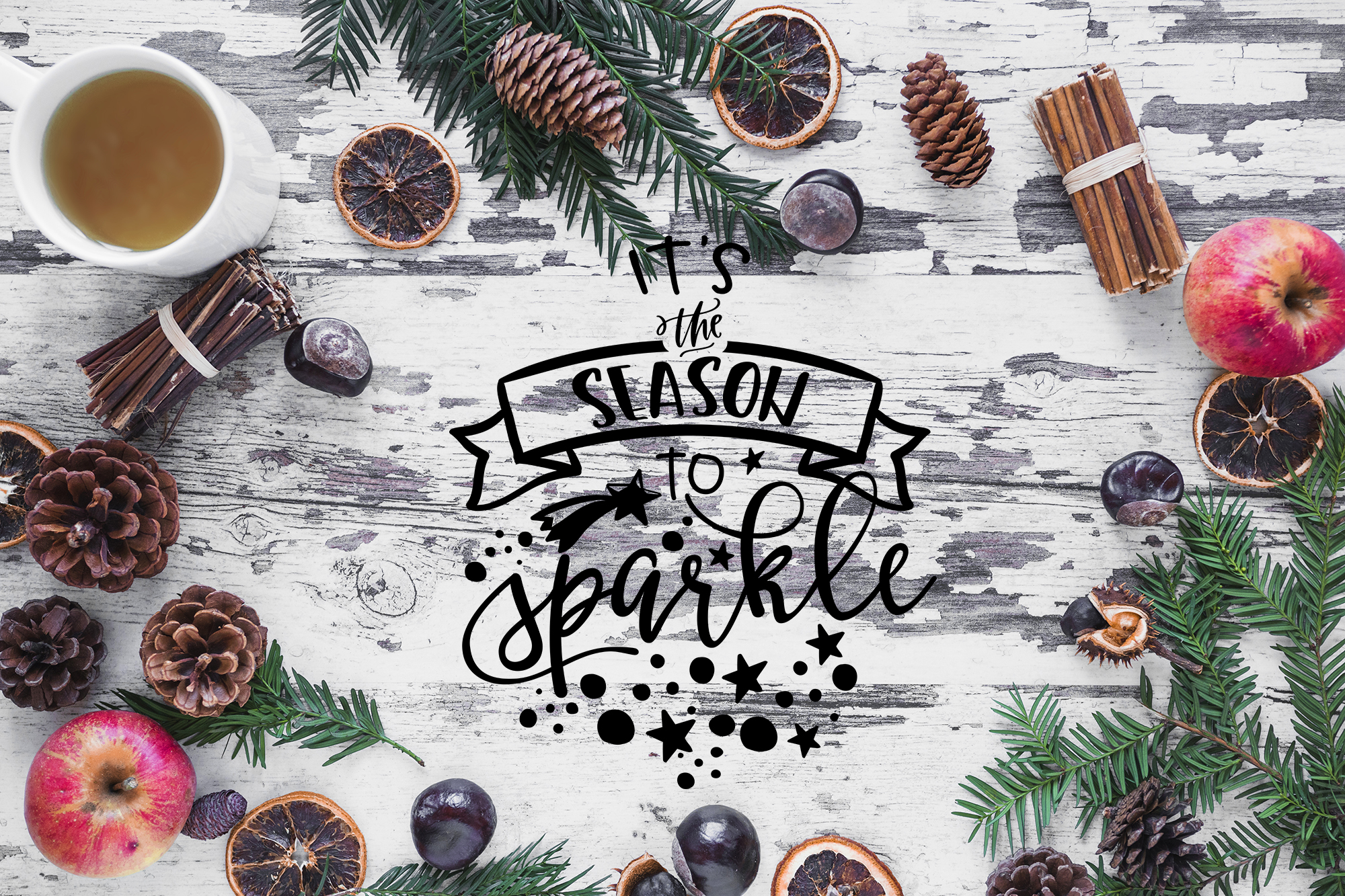 Christmas bundle Let it snow Merry Christmas Winter svg example image 10