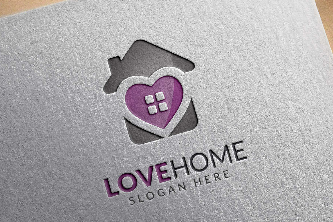 Love home logo, real estate logo example image 4